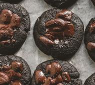 Black Sesame, Salt and Chocolate Cookies