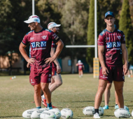Manly Sea Eagles Kieran Foran and Daly Cherry-Evans. Manly Media.