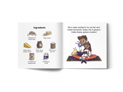 Quinoa crackers book pages