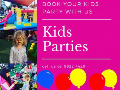 Kids Parties Saturday and Sunday at TKC