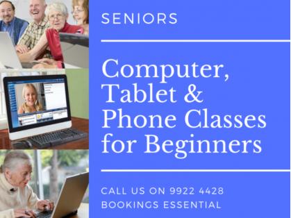Seniors Computer, Tablet & Phone Classes