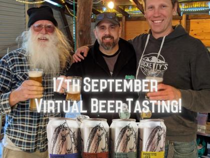 Virtual Beer Tasting: Beer & Glass $59
