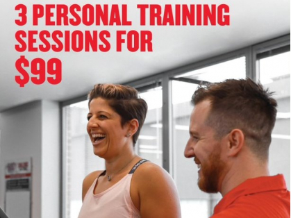 3 Personal Training Sessions for $99!
