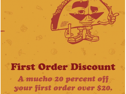 20% off first order over $20