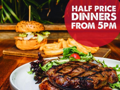 Monday Half Price Dinners