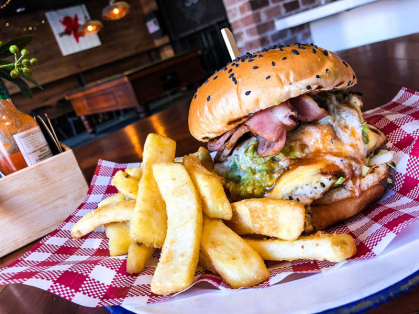 $12 Burgers Every Monday 5pm Onwards