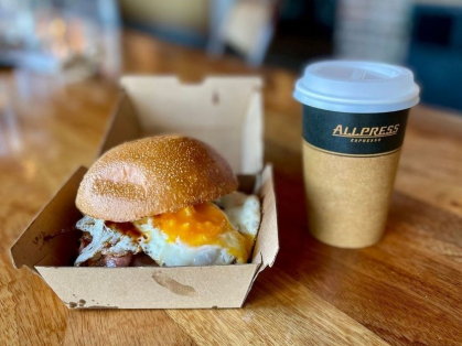 $12 Bacon & Egg Roll & Large Coffee!