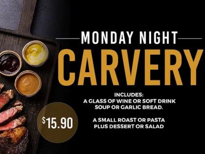 Monday Night Carvery $15.90