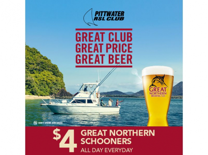 $4 Great Northern Schooner Every Day