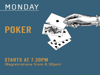 Monday Night Poker at The Belrose Hotel!
