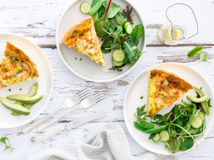 2-4-1 Quiche and Salad for Lunch $16.90, Think Local Deal, Garden Terrace Cafe