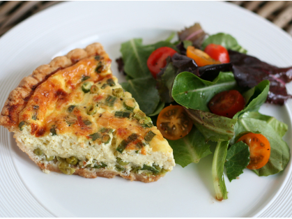 1/2 Price Quiche & Salad for Two $16.90, Think Local Deal, Garden Terrace Cafe