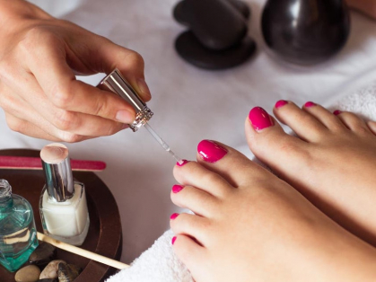 $20 Pedicure & Normal Polish, Save $15!, Think Local Deal, Aki's Spa Nails