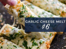 Garlic Cheese Melt $6 at Manly Leagues
