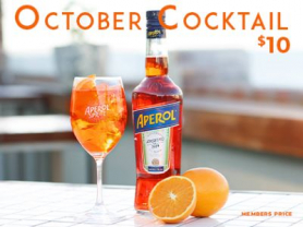 October Cocktails only $10