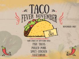 $5 Taco Fever This November