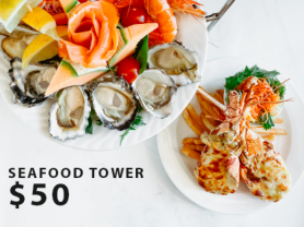 Seafood Tower $50 at Manly Leagues