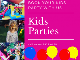 Kids Parties Saturday and Sunday at TKC