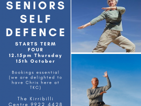 Seniors Self Defence Classes
