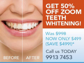 50% off Zoom WhiteSpeed Teeth Whitening