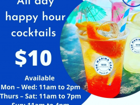 $10 Cocktails All Day at The Marina Cafe