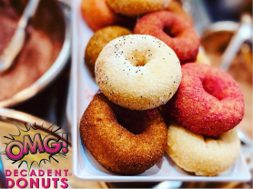 Decadent Donuts: Buy 3 Get 1 Free, Think Local Deal, OMG Donuts