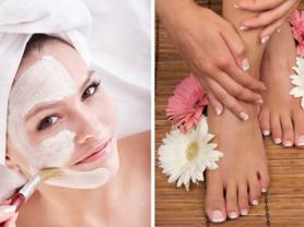 30min Skin Treatment & Express Pedi: $65