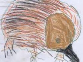 Kids Club - Drawing Colouring Cutting Assembling: Echidna Stick Puppets