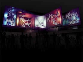 The Space in between Humans - projection artwork