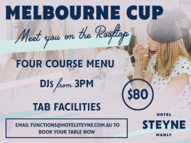 Melbourne Cup Meet you on the Rooftop