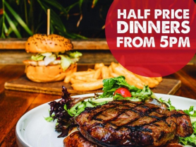 Monday Half Price Dinners