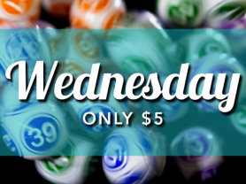 Wednesday Bingo Only $5 at TBC