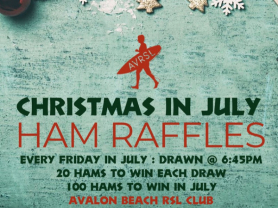 Christmas In July Ham Raffles