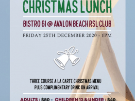 Christmas Lunch at Avalon Beach RSL Club