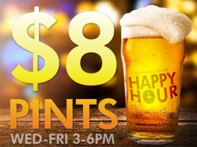 $6 Schooner & $8 Pints Happy Hour