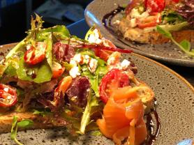 2 Salmon Bruschettas Mon-Fri Only $26, Think Local Deal, Garden Terrace Cafe
