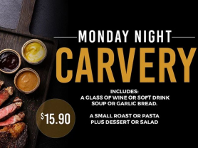 Monday Night Carvery $15.90