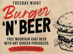 Tuesday Night Burger & Beer