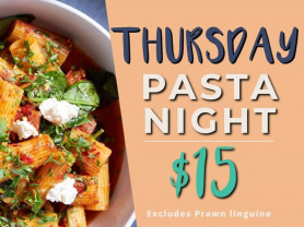 Thursday - Pasta Night $15