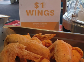 $1 Wings and Footy: 2-5pm Sundays