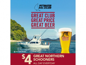 $4 Great Northern Schooner Every Day