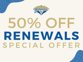 50% Off Renewals