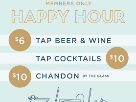 Happy Hour at The Alcott: Mon-Fri 4-7pm