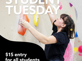 Student Tuesdays: $15 Entry!