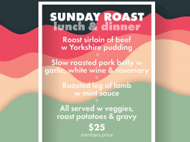 Sunday Roast at The Manly Club!