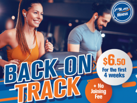 Save $99 for 4 weeks at Plus Fitness