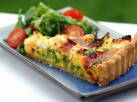 1/2 Price Quiche & Salad for Two: $16.90