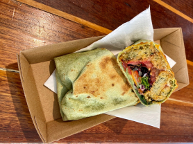 Gourmet Wrap & Large Coffee Only $12