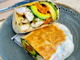 Takeaway Only: Chicken Wrap Only $10.90, Think Local Deal, Garden Terrace Cafe
