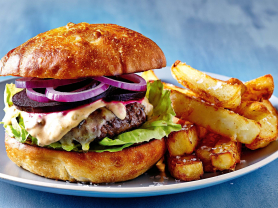 50% Off Burger and Chips for 2 Only $14!, Think Local Deal, Castle Cove Golf Club